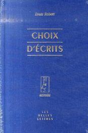 Choix d'écrits - Intérieur - Format classique