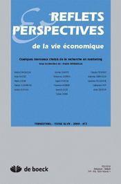 Reflets et perspectives de la vie économique N.2008/2 ; quelques morceaux choisis recherche en marketing - Couverture - Format classique