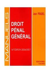 Droit Penal General (16e Edition - Intérieur - Format classique