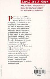 Paris en bouteilles - 4ème de couverture - Format classique