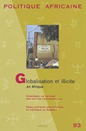 REVUE POLITIQUE AFRICAINE N.93 ; globalisation et illicite en Afrique - Couverture - Format classique