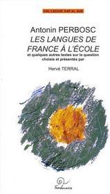 Les langues de france a l'ecole - Intérieur - Format classique