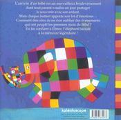 Le livre de naissance d'elmer - 4ème de couverture - Format classique