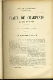 Traite De Charpente En Fer - Cours De Construction 4eme Partie. - Couverture - Format classique
