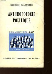Antropologie Politique - Couverture - Format classique