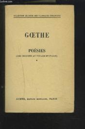 Poesies - Des Origines Au Voyage En Italie - Tome 1 Collection Biblingue Des Classiques Etrangers - Francais / Allemand. - Couverture - Format classique