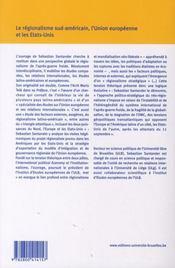 Le regionalise sud-americain et l'union europeenne - 4ème de couverture - Format classique