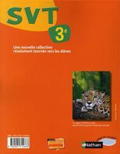 Sciences de la vie et de la terre ; 3ème ; manuel de l'élève (édition 2008) - 4ème de couverture - Format classique