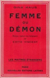 Femme ou démon - Couverture - Format classique