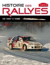 Histoire des rallyes depuis 1987 t.3 - Couverture - Format classique