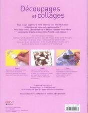 Decoupages Et Collages - 4ème de couverture - Format classique