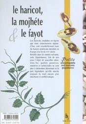 Haricot La Mojhete & Le Fayot - 4ème de couverture - Format classique