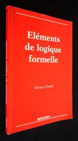 Elements de logique formelle - Couverture - Format classique
