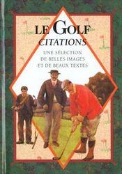 Le golf citations - Intérieur - Format classique