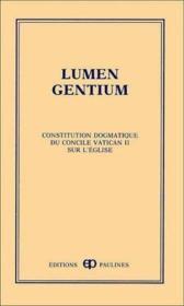 Lumen gentium - Couverture - Format classique