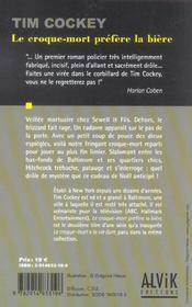 Le Croque-Mort Prefere La Biere - 4ème de couverture - Format classique