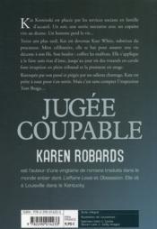 Jugée coupable - 4ème de couverture - Format classique