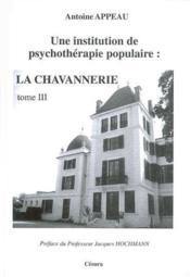 Une institution de psychotherapie populaire t.3 - Couverture - Format classique