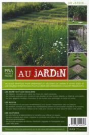 Pratique et facile au jardin ; réaliser un escalier, un muret, une allée, une clôture - 4ème de couverture - Format classique