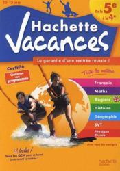 Hachette Vacances ; De La 5ème A La 4ème - Couverture - Format classique