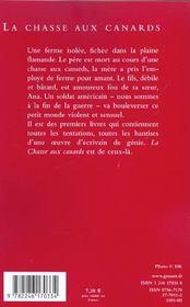 La Chasse Aux Canards - 4ème de couverture - Format classique