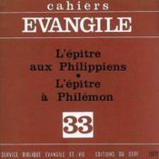 Les Epitres Aux Philippiens Et L'Epitre A Philemon (S. Legasse), No - Couverture - Format classique