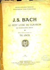 J S Bach Le Petit Livre De Clavecin - Couverture - Format classique