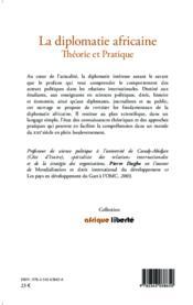 La diplomatie africaine ; théorie et pratique - Couverture - Format classique