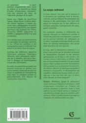 Le Corps Redresse - 4ème de couverture - Format classique