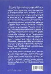 L'empire du livre ; pour une histoire du savoir scholastique (1200-13801) ; la raison scholastique t.2 - 4ème de couverture - Format classique