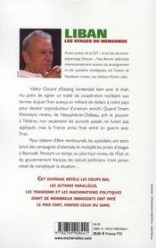 Liban ; les otages du mensonge - 4ème de couverture - Format classique