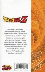 Dragon Ball Z - cycle 1 ; les Saïyens T.2 - 4ème de couverture - Format classique