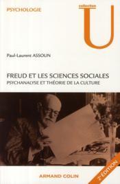 Freud et les sciences sociales ; psychanalyse et théorie de la culture - Couverture - Format classique