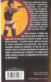 Hank Le Mercenaire T.9 ; Les Tueurs Du Rio Negro - 4ème de couverture - Format classique