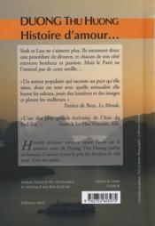 Histoire d'amour racontée avant l'aube - 4ème de couverture - Format classique