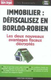 Immobilier, défiscalisez en Borloo-Robien - Intérieur - Format classique