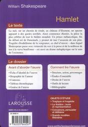 Hamlet - 4ème de couverture - Format classique