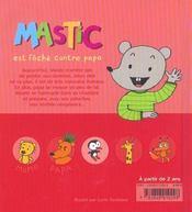 Mastic Est Fache Contre Papa - 4ème de couverture - Format classique