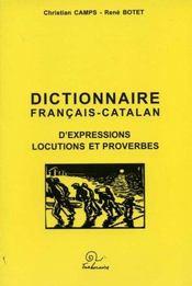 Dictionnaire francais-catalan d expression locutions et proverbes - Intérieur - Format classique