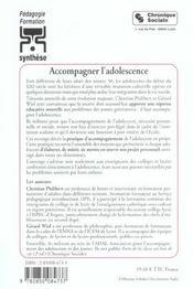 Accompagner l'adolescence 3e ed. - 4ème de couverture - Format classique