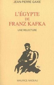 L'Egypte de Franz Kafka - Intérieur - Format classique