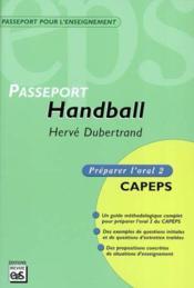 Handball ; passeport - Couverture - Format classique