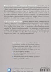 REVUE LIBERTE POLITIQUE T.20 ; le nouvel âge écologique - 4ème de couverture - Format classique