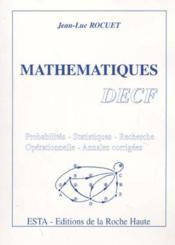 Mathematiques ; Decf - Couverture - Format classique