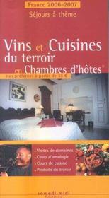 Vins et cuisines du terroir en chambre d'hôtes (édition 2006/2007) (édition 2006/2007) - Intérieur - Format classique