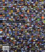 1000 détails en architecture - 4ème de couverture - Format classique