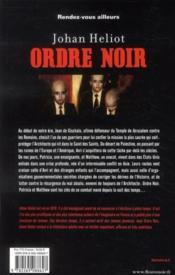Ordre noir - 4ème de couverture - Format classique