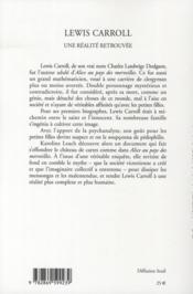 Lewis Caroll, une réalité retrouvée - 4ème de couverture - Format classique