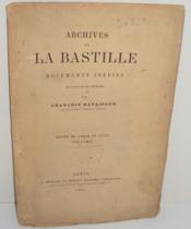 Archives de la Bastille. Documents inédits recueillis et publiés par François Ravaisson. Règne de Louis XV (1717) : Voltaire. - Couverture - Format classique