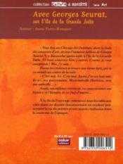 L'île de la grande Jatte ; Georges Seurat - 4ème de couverture - Format classique